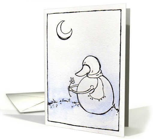 For You, Snowman with Flower card (656067)