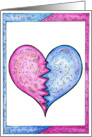 Cute Break-Up card - Mended Heart card
