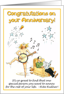 Congratulations on your Anniversary - Here's to many more years of marital bliss! card