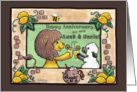 Happy Anniversary for Aunt and Uncle -Lion and Lamb- Making Lemonade card