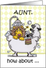 Happy Birthday for Aunt-Lion and Lamb -Bubbly card