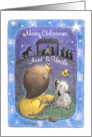 For Aunt and Uncle-Lion and Lamb-Merry Christmas card
