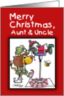 Christmas For Aunt and Uncle-Lion and Lamb-Making Candy Canes card