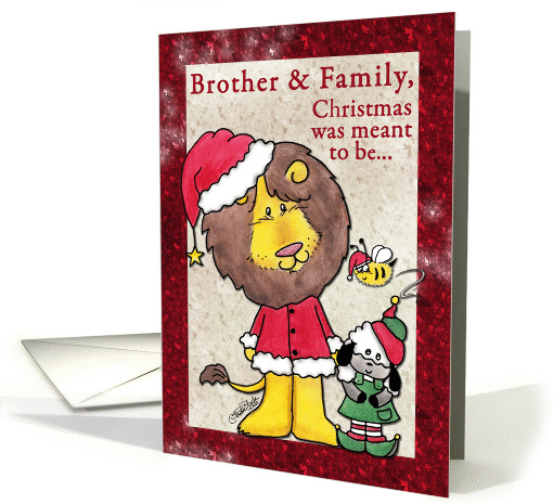 Merry Christmas for Brother and Family-Lion and Lamb-... (865525)