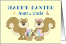 Happy Easter Aunt & Uncle - Squirrels with Baskets card
