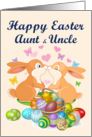 Happy Easter Aunt & Uncle (Bunnies & Eggs) card