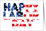 Happy Labor Day, stars & stripes card