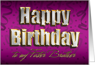 Bling Happy Birthday - Foster Brother card