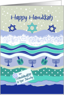 Hanukkah for Granddaughter & Family, Dreidels Scrapbooking Look card
