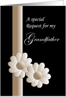 Grandfather, wedding invitation, walk me down aisle? card