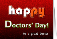 Happy Doctors' Day Bright and Cheerful! card