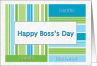 Happy Boss's Day Leader, Coach, Motivator card