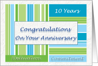 Employee Anniversary Congratulations On Your 10th Anniversary card
