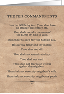The Ten Commandments, Blank Note Card