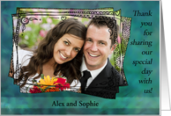 Customizable wedding thank you - thanks for sharing our special day! card