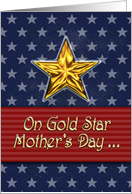 Gold Star Mother's Day Card, stars and stripes, in remembrance card