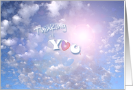 Love thinking of you in the clouds card