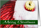 Christmas Ornament with Snow - Merry Christmas card