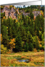 Autumn in Spearfish Canyon, South Dakota - all occasion blank note card