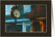 Main Street Clock Painting Missing You Card