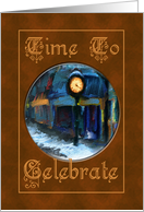 Happy Birthday Main Street Clock Time To Celebrate You card