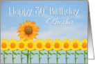 Brother, 80th Birthday, Sunflowers card