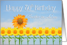 Brother-in-Law, 80th Birthday, Sunflowers card