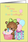Sweet Birthday Wishes Great Granddaughter card