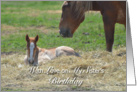Sister's Birthday, Baby and Mother's Horse card