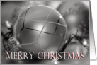 Silver Merry Christmas Ornament, ornament, lights card