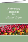 Anniversary Blessings to a Special Couple, Tulips card