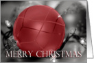 Red Merry Christmas Ornament, ornaments and lights card