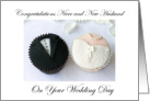 Niece and New Husband Wedding Day, Cupcakes card