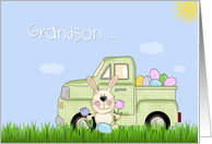 Grandson, Easter Truck card