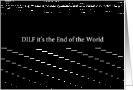 Simply Black - DILF it's the End of the World card