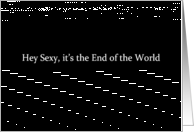 Simply Black - Hey Sexy it's the End of the World card