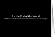 Simply Black - It's the End of the World card
