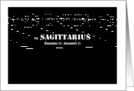 Sagittarius - Simply Black card