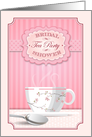 Bridal Shower Tea Party Invitation card