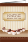 Death by Chocolate Bridal Shower Invitation card
