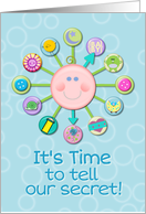 We're Expecting Baby Boy Announcements Cute Baby Clock card