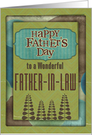 Happy Father's Day Wonderful Father-in-Law Trees and Frame card