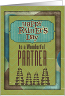 Happy Father's Day Wonderful Partner Trees and Frame card