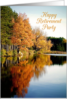 Happy Retirement Party Invitation Autumn on the Lake card