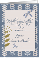 Sympathy Foster Mother Dragonflies and Flowers card