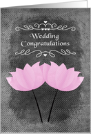 Wedding Congratulations for Lesbian Couple Chalkboard Flowers card