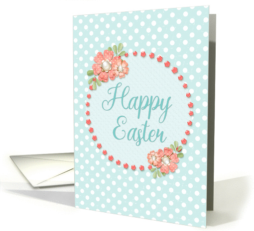 Happy Easter Holiday Flowers and Polka Dots Scrapbook... (1423294)