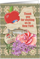 Thank You for Visiting Us In New York State Specific Scrapbook Style card