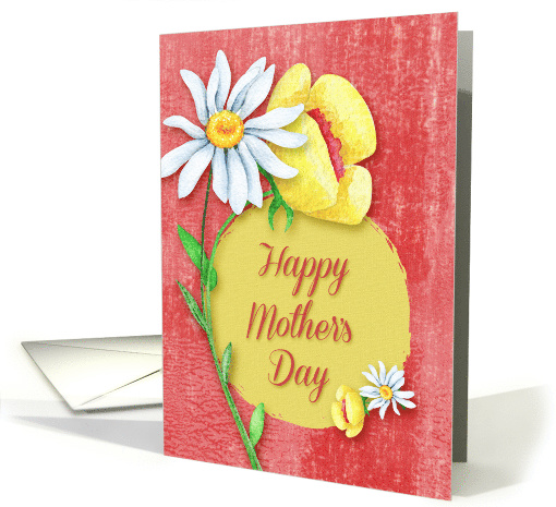 Happy Mother's Day Pretty Flowers Watercolor Effect card ...