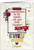 Congratulations on Reunion with Birth Daughter Pretty Scrapbook Style card
